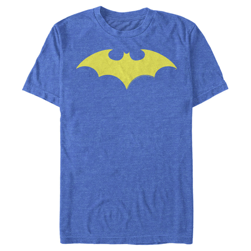 Batman Men's Winged Hero Symbol  T-Shirt  Royal Blue Heather  2XL