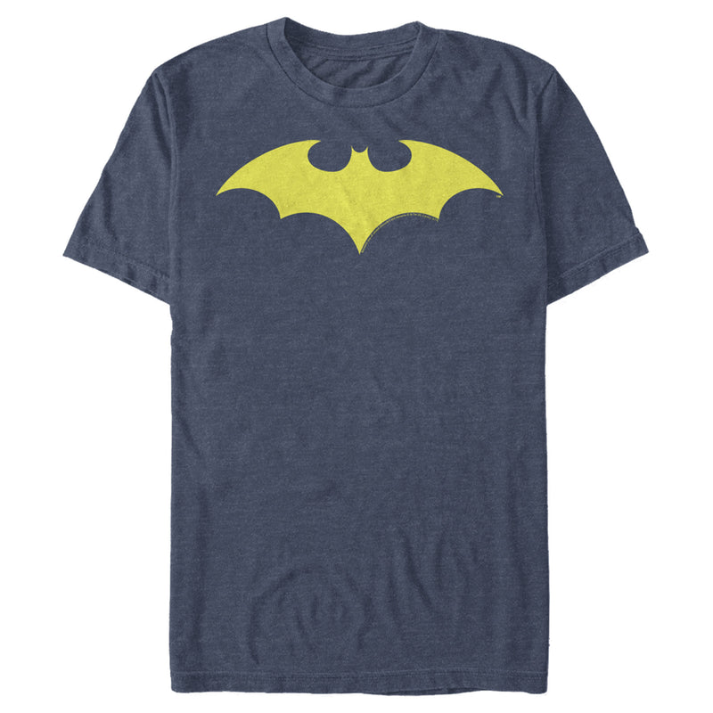 Batman Men's Winged Hero Symbol  T-Shirt  Navy Blue Heather  S