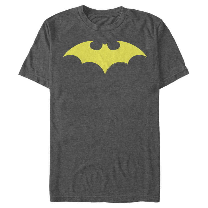 Batman Men's Winged Hero Symbol  T-Shirt  Charcoal Heather  3XL