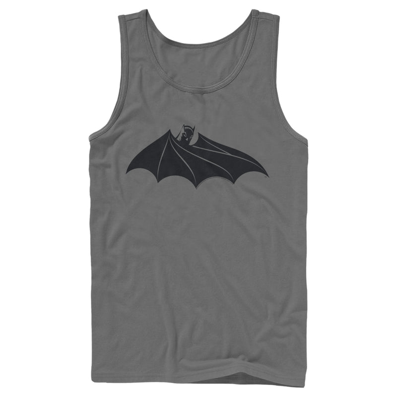 Batman Men's Logo Hidden Wing  Tank Top  Charcoal  M