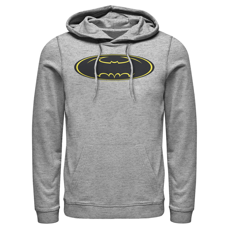 Batman Men's Logo Modern Wing  Pull Over Hoodie  Athletic Heather  XL