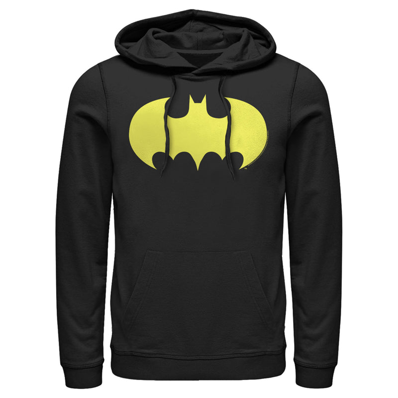 Batman Logo Classic Wing Mens Graphic Lightweight Hoodie