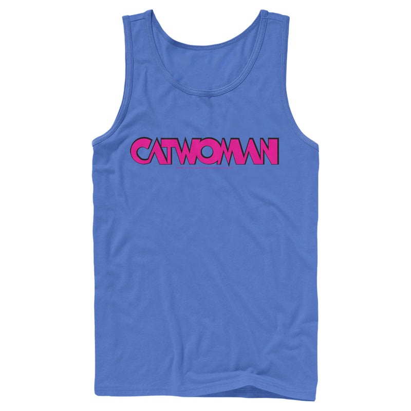 Batman Catwoman Logo Mens Graphic Tank Top