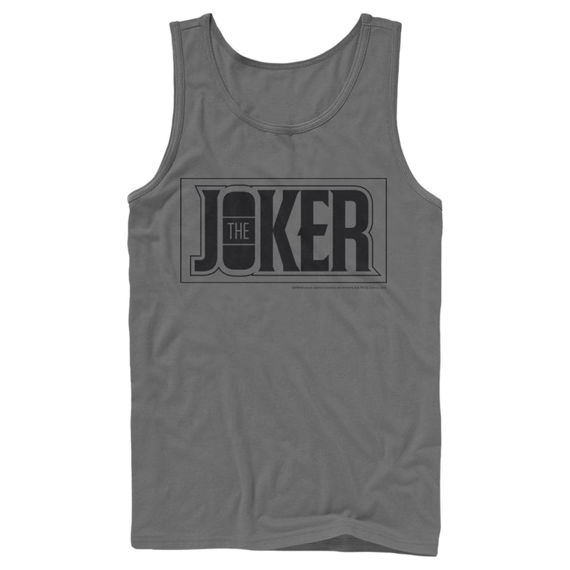 Batman Joker Text Logo Mens Graphic Tank Top
