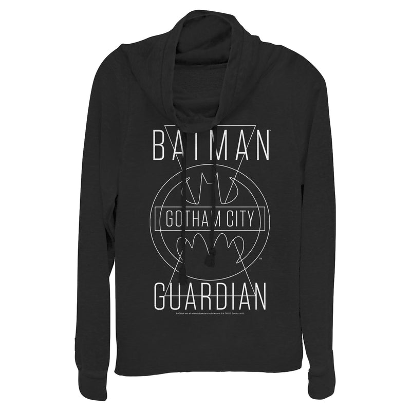 Batman Junior's Gotham City Guardian  Cowl Neck Sweatshirt  Black  XS