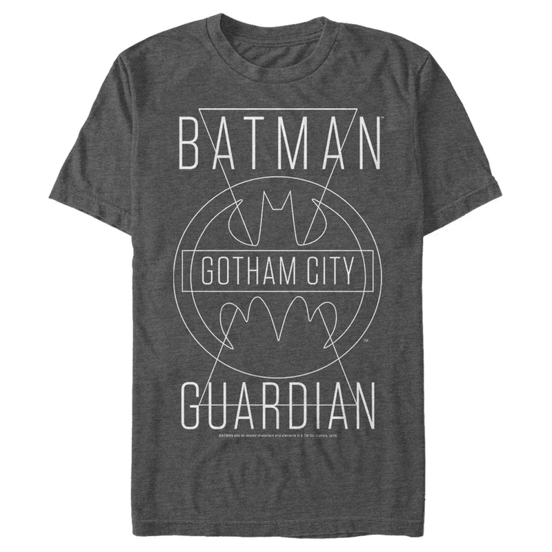 Batman Men's Gotham City Guardian  T-Shirt  Charcoal Heather  XL