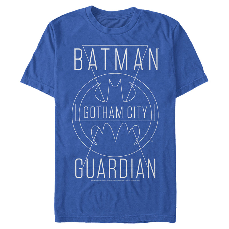 Batman Men's Gotham City Guardian  T-Shirt  Royal Blue  L