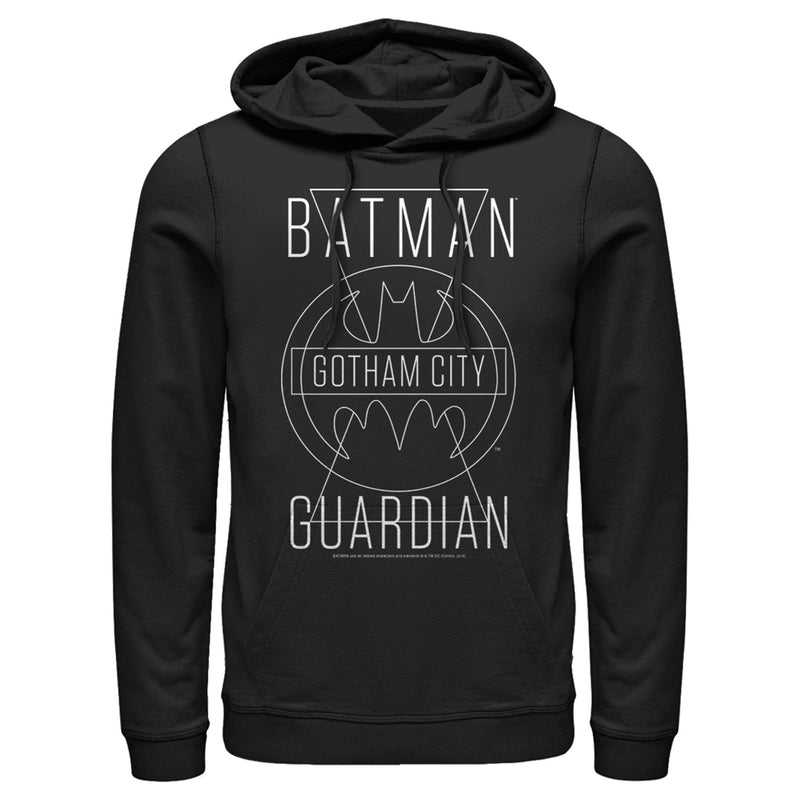 Batman Men's Gotham City Guardian  Pull Over Hoodie  Black  S