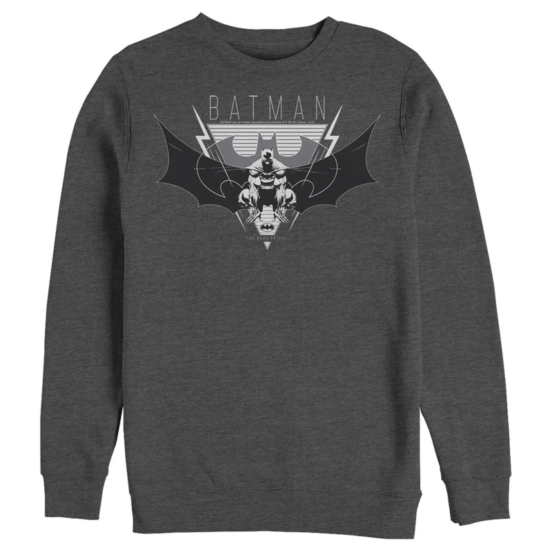 Batman Men's Winged Hero Emblem  Sweatshirt  Charcoal Heather  3XL