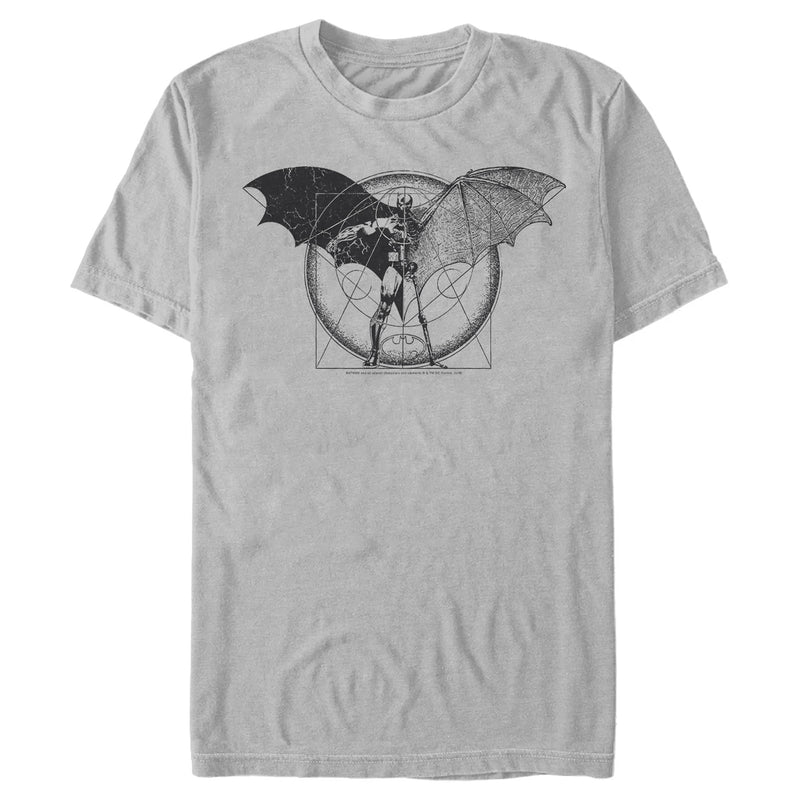Batman Caped Crusader Schematics Mens Graphic T Shirt