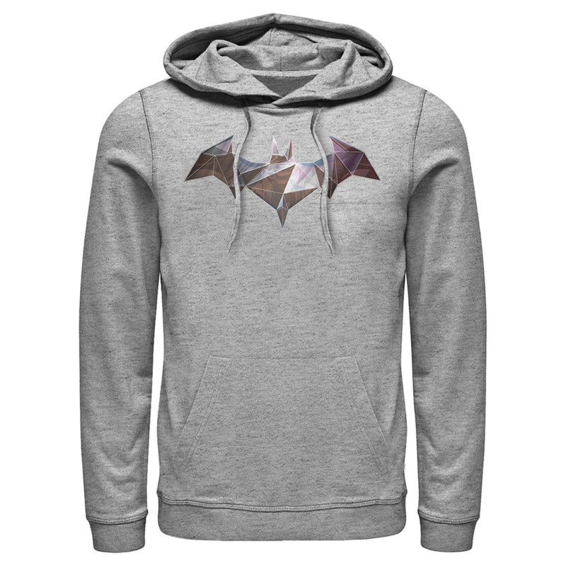 Batman Logo Geometric Wing Mens Graphic Lightweight Hoodie