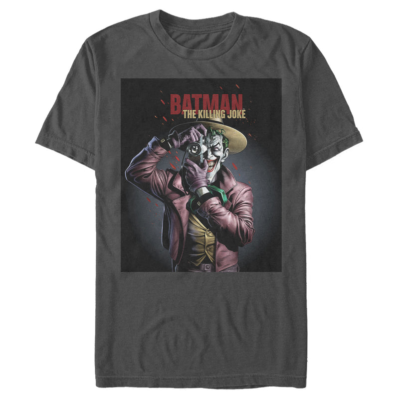 Batman Joker Camera Poster Mens Graphic T Shirt
