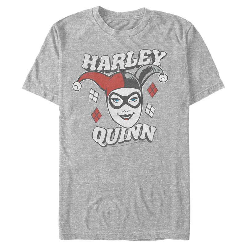 Batman Men's Harley Quinn Smile Face  T-Shirt