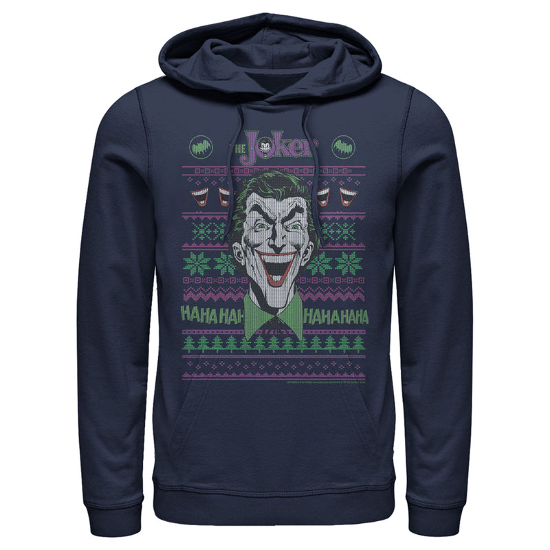 Batman Joker Laugh Ugly Christmas Sweater Mens Graphic Lightweight Hoodie