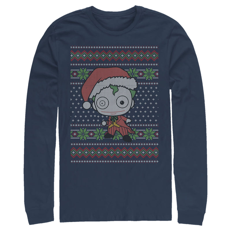 Batman Chibi Joker Ugly Christmas Sweater Mens Graphic Long Sleeve Shirt