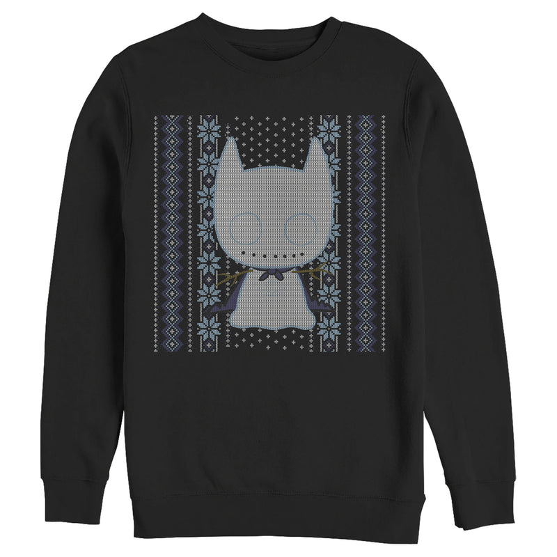 Batman Men's Ugly Christmas Chibi Snow Bat  Sweatshirt