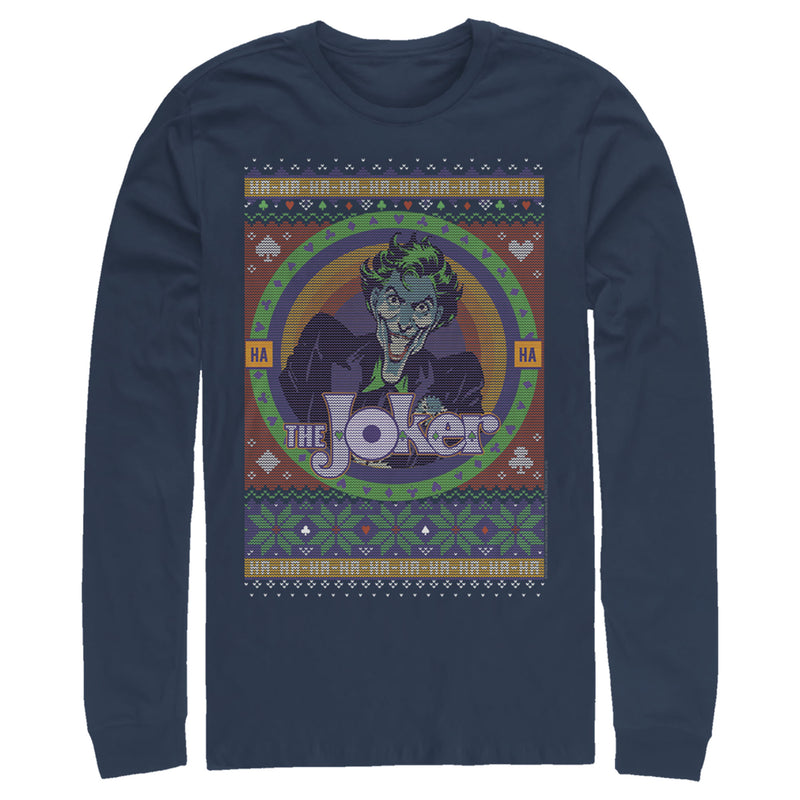 Batman Joker Ugly Christmas Sweater Mens Graphic Long Sleeve Shirt