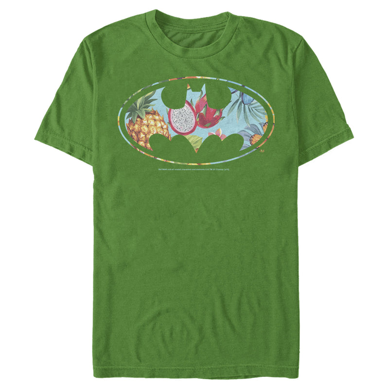 Batman Men's Tropical Logo  T-Shirt  Kelly Green  S