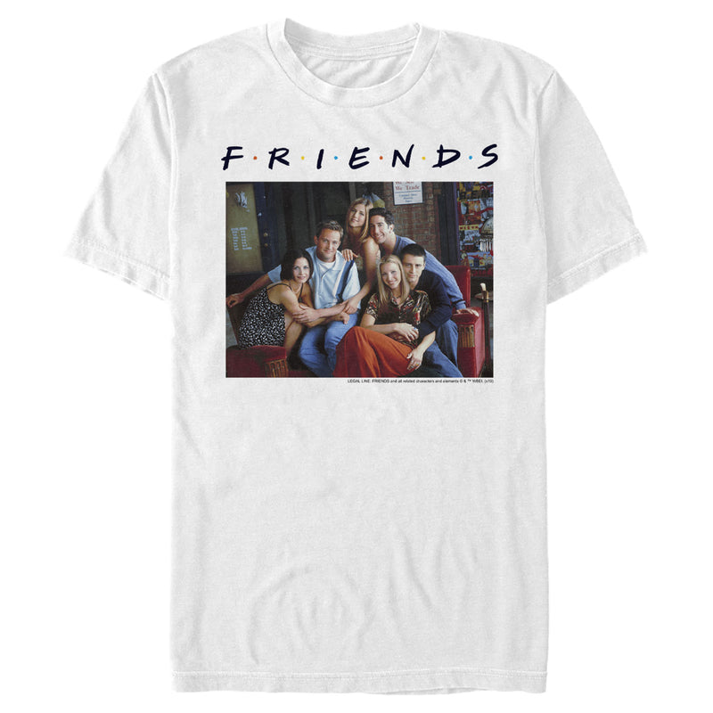 Friends Character Poster Mens Graphic T Shirt
