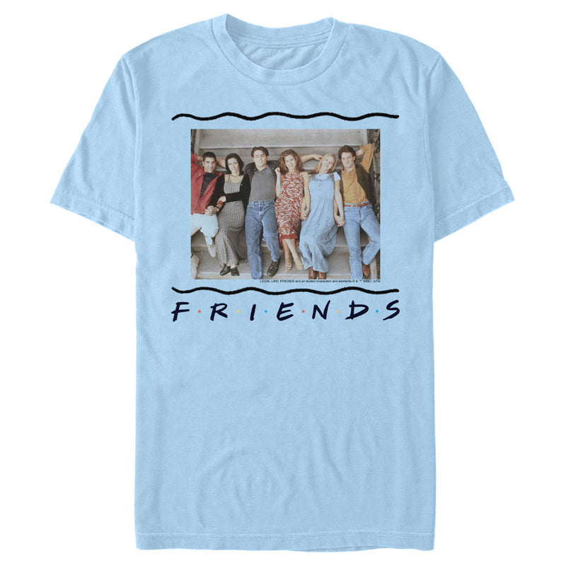 Friends Men's Group Stair Pose  T-Shirt