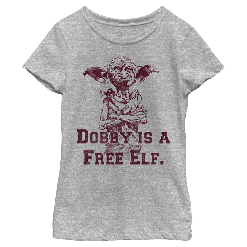 Harry Potter Girl's Dobby is a Free Elf  T-Shirt