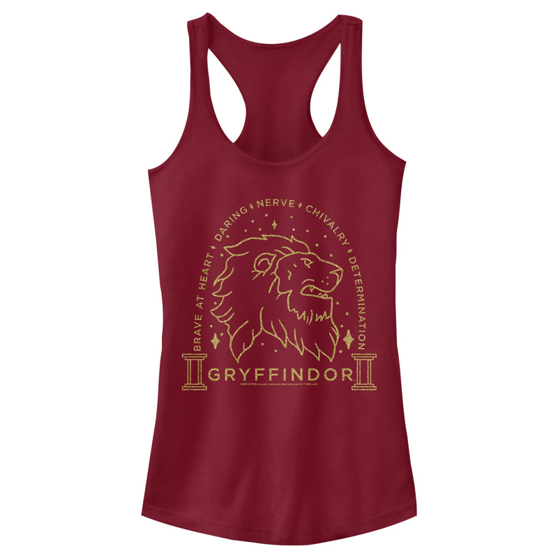 Harry Potter Gryffindor House Emblem Juniors Graphic Racerback Tank