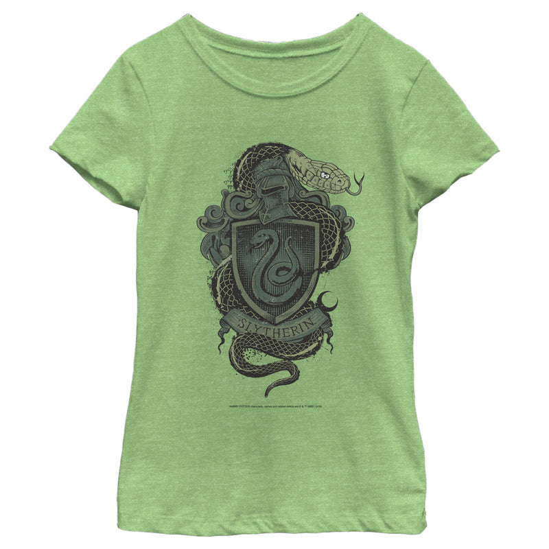 Harry Potter Slytherin Coat of Arms Girls Graphic T Shirt