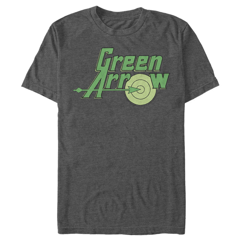 Justice League Classic Green Arrow Logo Mens Graphic T Shirt