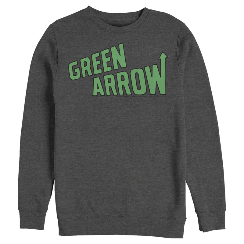 Justice League Men's Arrow Logo  Sweatshirt