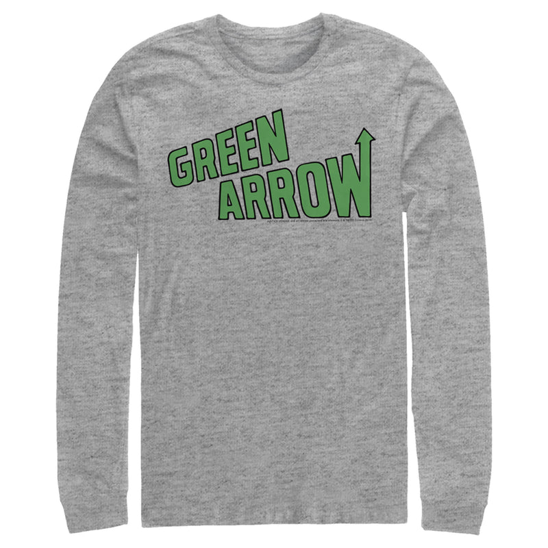 Justice League Green Arrow Logo Mens Graphic Long Sleeve Shirt