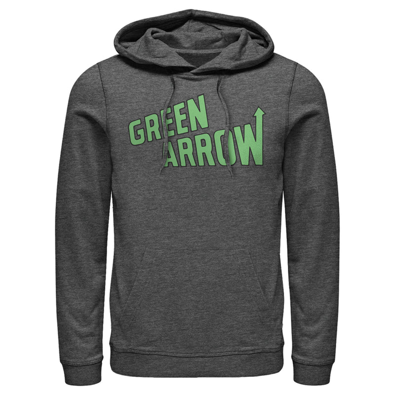 Justice League Green Arrow Logo Mens Graphic Lightweight Hoodie
