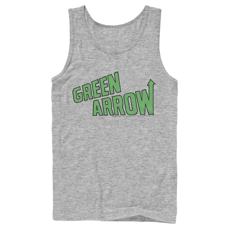 Justice League Green Arrow Logo Mens Graphic Tank Top