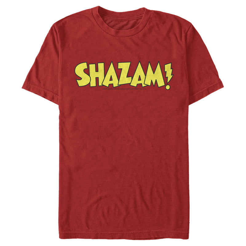 Justice League Men's Shazam Logo  T-Shirt
