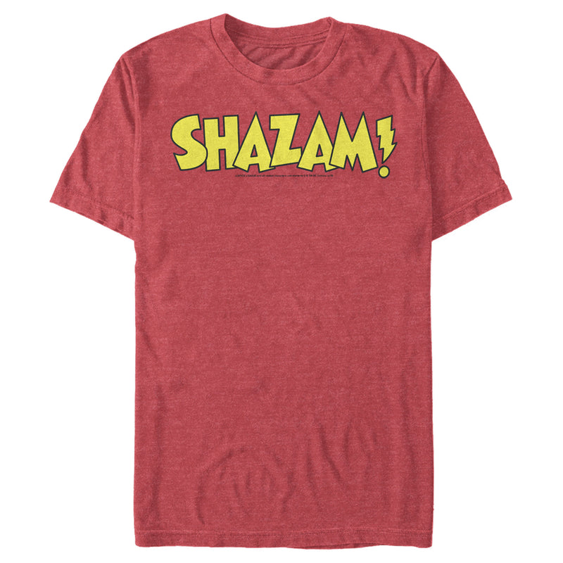 Justice League Men's Shazam Logo  T-Shirt  Red Heather  S