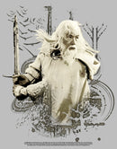 The Lord of the Rings Men's Fellowship of the Ring Gandalf Ready for Battle  T-Shirt