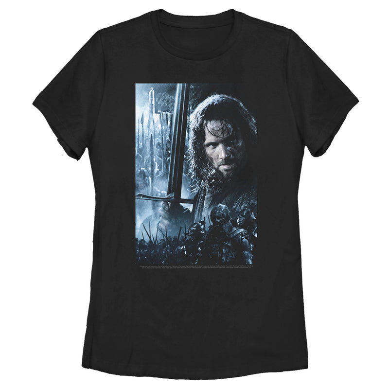 The Lord of the Rings Women's Fellowship of the Ring Aragorn Poster  T-Shirt