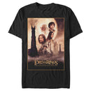 The Lord of the Rings Men's Two Towers Movie Poster  T-Shirt  Black  L