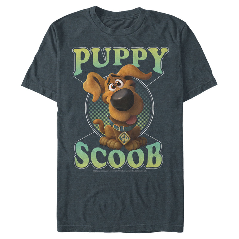 Scooby Doo Men's Puppy Circle  T-Shirt  Slate Heather  S