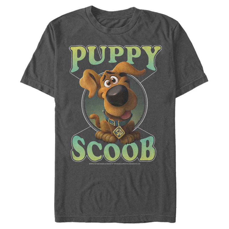 Scooby Doo Men's Puppy Circle  T-Shirt  Charcoal  S