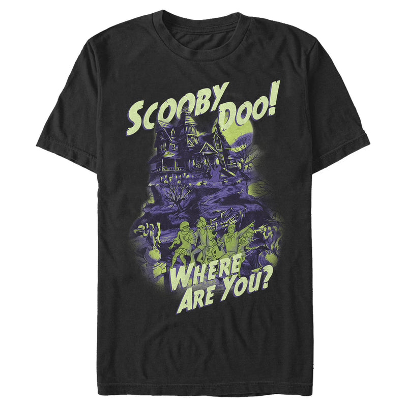 Scooby Doo Haunted House Mens Graphic T Shirt