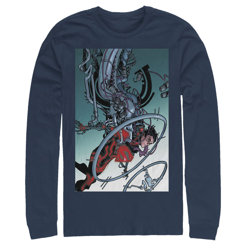 Superman Robotic Fall Mens Graphic Long Sleeve Shirt