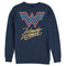Wonder Woman 1984 Men's Neon Logo Glow  Sweatshirt