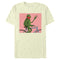 Disney Muppets Men's Kermit Bike Wave  T-Shirt  Beige  3XL