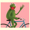 Disney Muppets Men's Kermit Bike Wave  T-Shirt