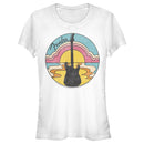 Fender Junior's 70s Guitar Silhouette  T-Shirt  White  2XL