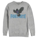 Fortnite Men's Raven Logo  Sweatshirt  Athletic Heather  2XL