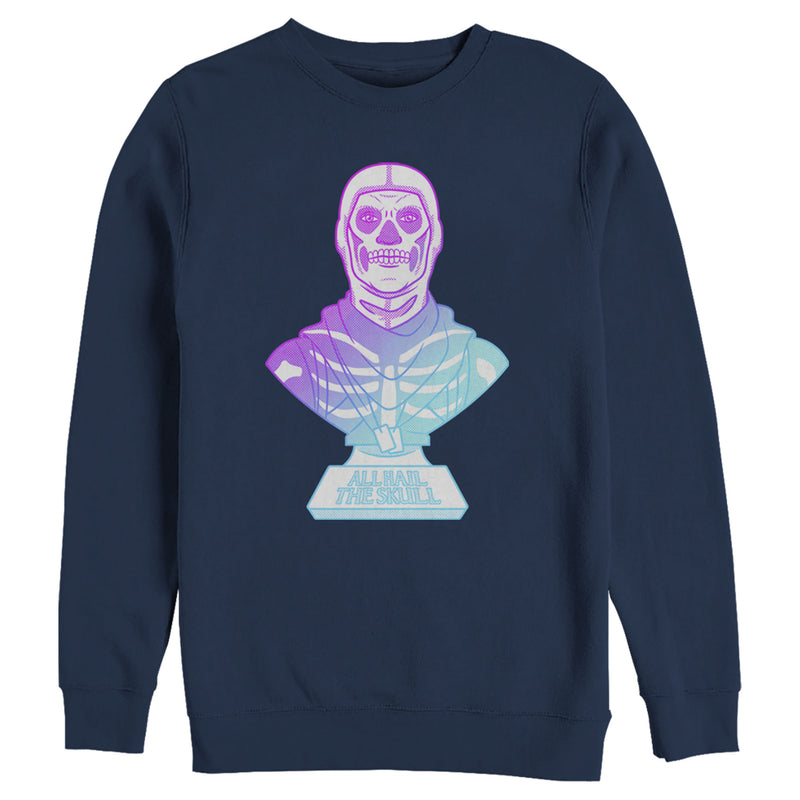 Fortnite Men's Skull Trooper All Hail Glow  Sweatshirt  Navy Blue  2XL