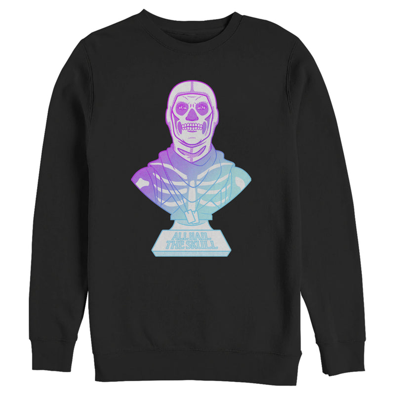 Fortnite Men's Skull Trooper All Hail Glow  Sweatshirt  Black  S