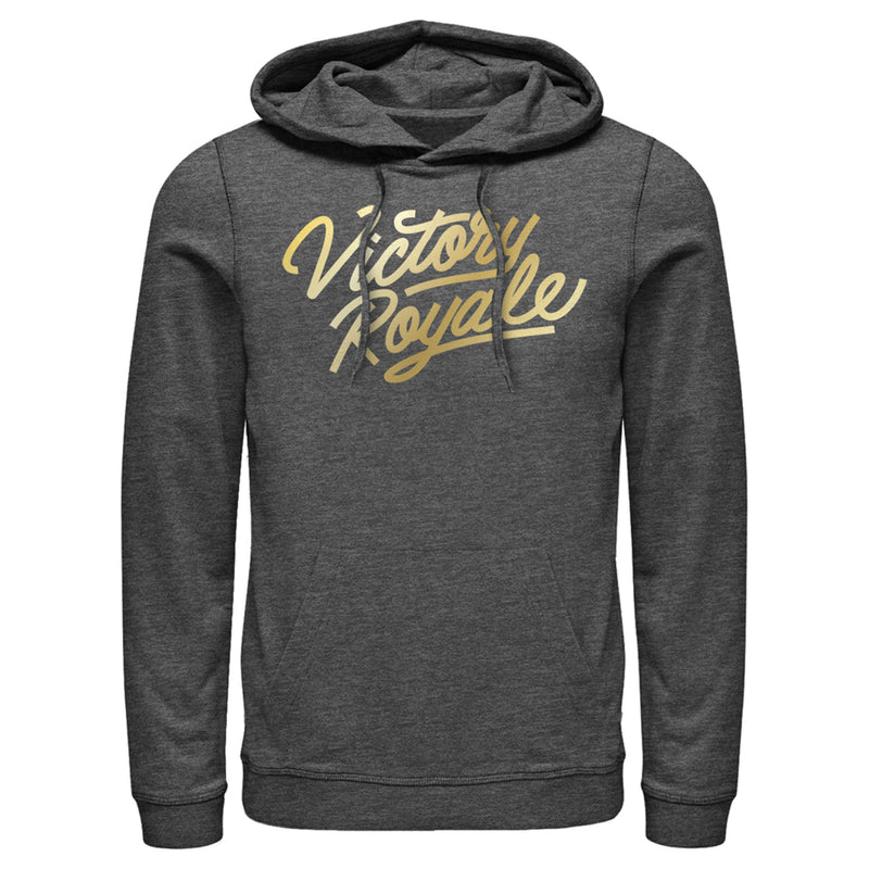 Fortnite Men's Victory Royale Gold Script  Pull Over Hoodie