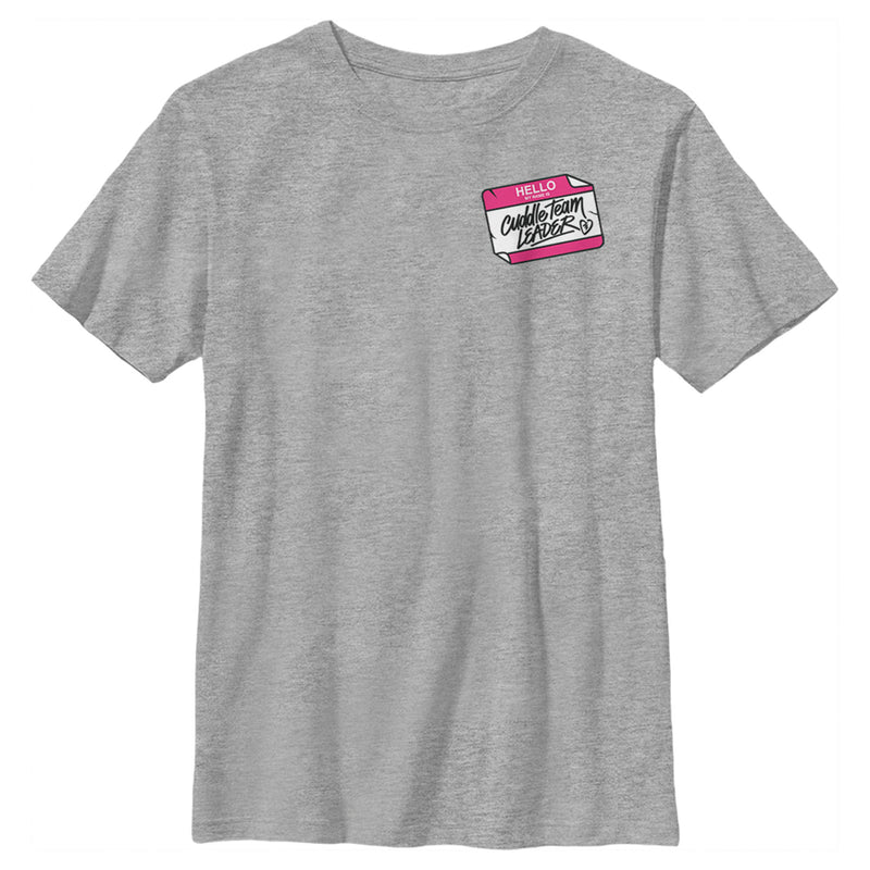 Fortnite Boy's Cuddle Name Tag  T-Shirt  Athletic Heather  YL